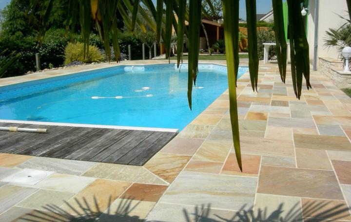 Collection extérieur > Terrasse > Dalle Quartzite yellow-plage de piscine
