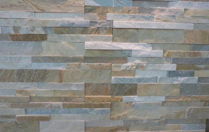 parement mural pierre naturelle quartzite honey 60x15x1,5-3cm