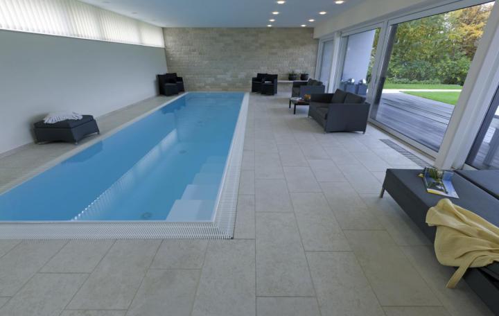 Dallage Saint Ambreuil Abbaye  llx40X2cm piscine